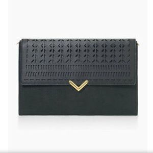 Stella & Dot City Slim Clutch Black
